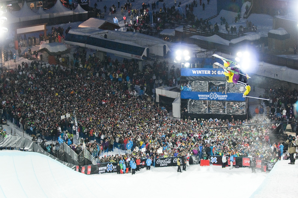 Crowds flock to the Winter X-Games Tignes