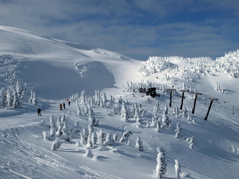 The summit of Eaglecrest Ski Area, Alaska. Photo courtesy of Eaglecrest Ski Area.