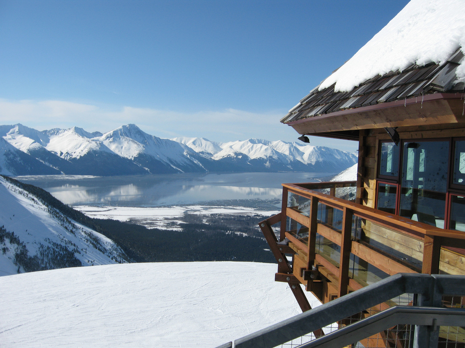Big mountain to sea views are seen from Alyeska Resort: Photo by McGeeze/Flickr