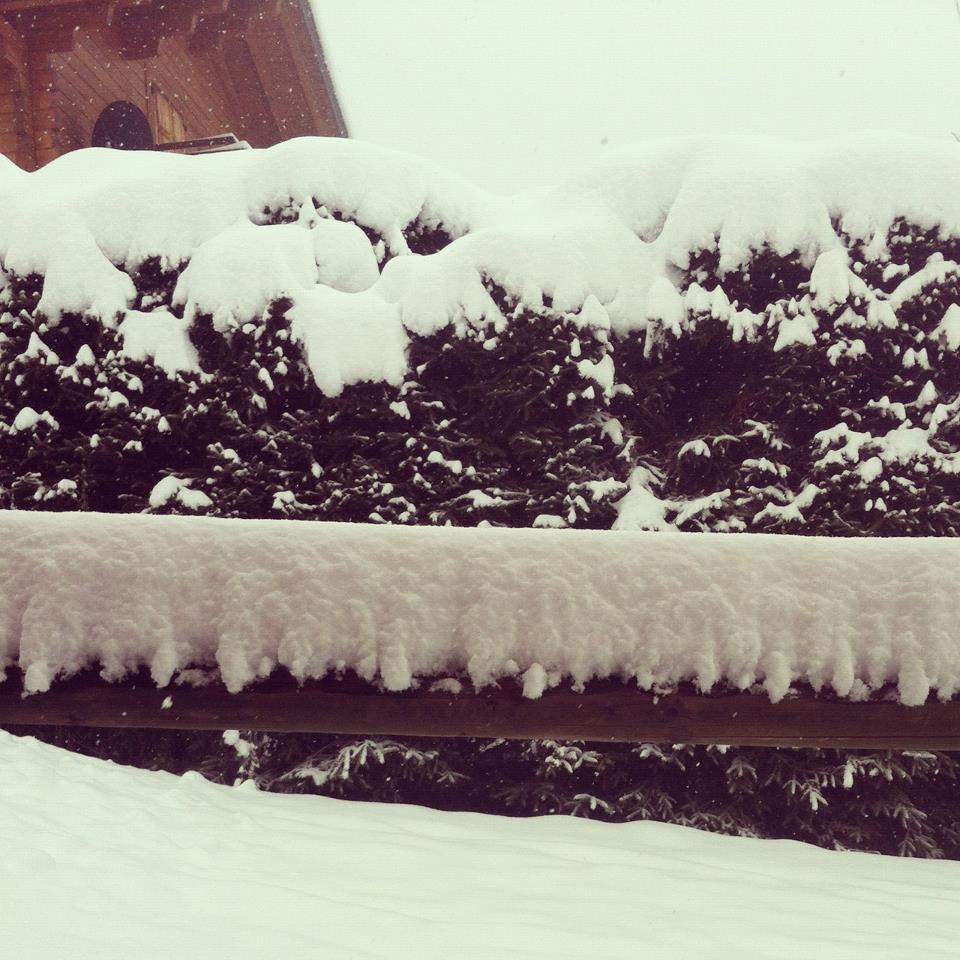 Snow is piling up in Verbier. Nov. 29, 2012