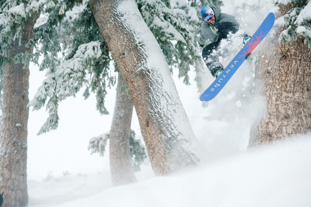 Yancey Caldwell loves the new snow at Sun Valley.Photo courtesy of Sun Valley Resort.