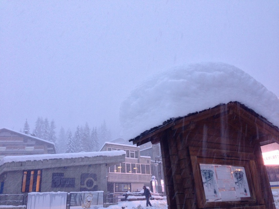 Snow is piling up in Verbier. Dec. 4, 2012
