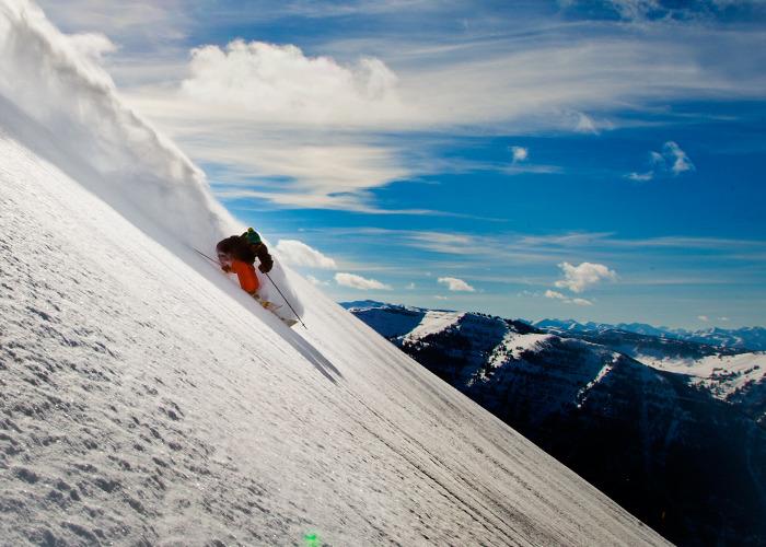 Even though it's only early December, all of Grand Targhee's 2,600 acres are open thanks to a 53-inch base.