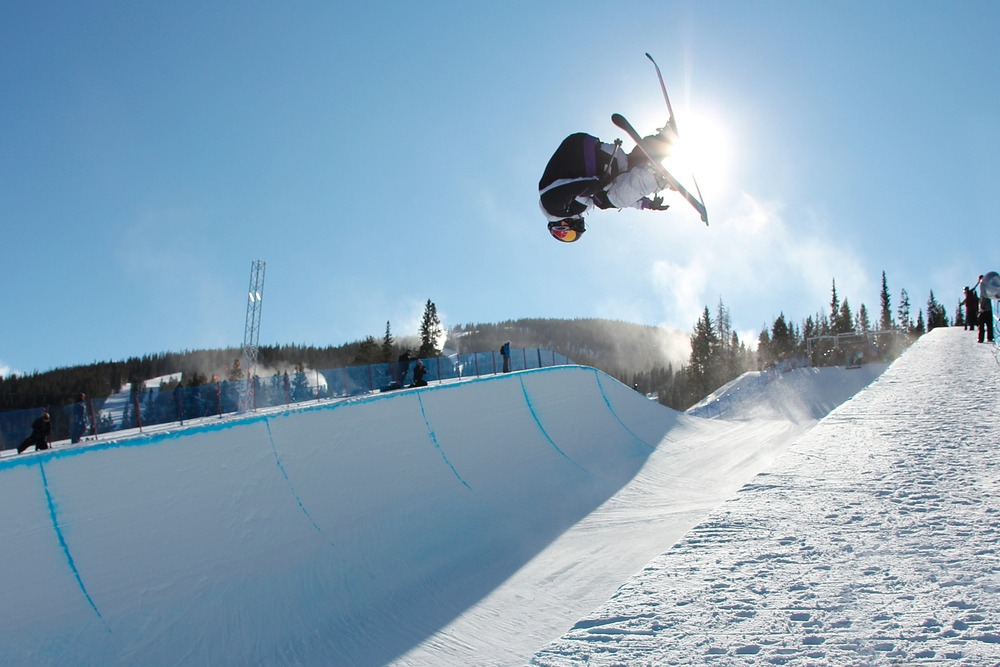 The superpipe at Copper Mountain is the first in the country to open. - ©Tripp Fay
