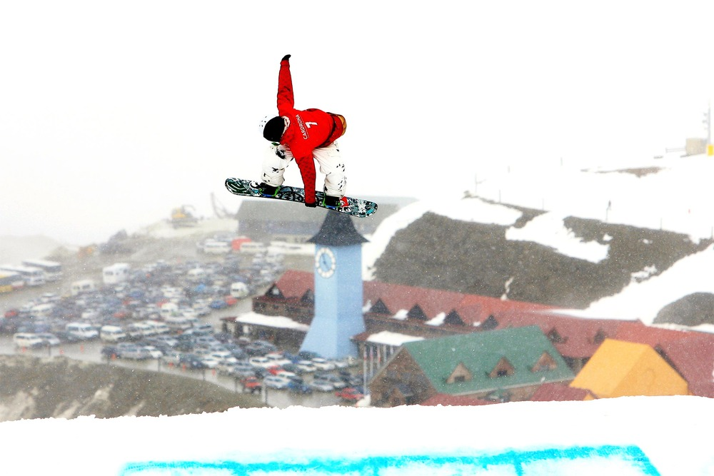 I've attached one from the slopestyle but the weather, as you can see was very average! The shot is of Roger-S Kleivdal who took out the men's title in the LG Continental Cup Slopestyle. We've not got bluebird weather for the rest of the comp so will get you some better shots after the weekend. -- V