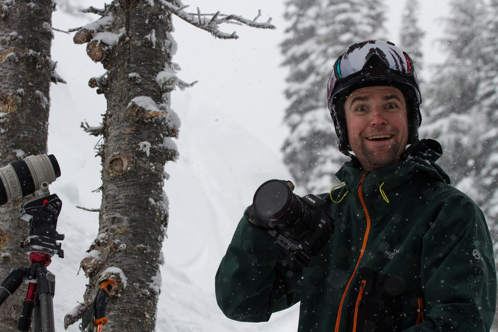 Good Life videographer Dane Henry had a great time keeping his gear dry during the storm