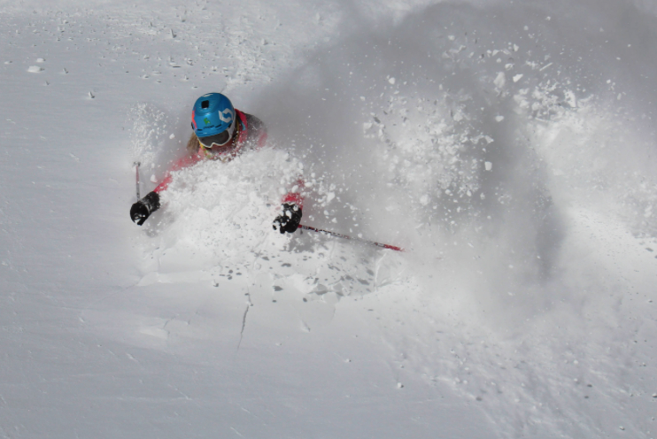 Above normal snowfall brought powder to Jackson Hole. Photo courtesy of Jackson Hole Mountain Resort.