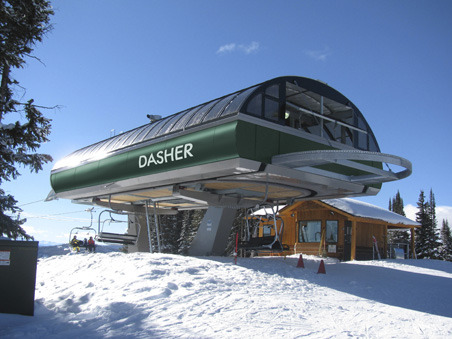 Granite Peak opens a new quad lift this season. Named Dasher, it serves the area's western slopes.