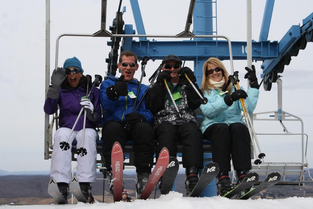 Smiling's easy when you're skiing for free. Photo Courtesy of Winterplace Ski Resort.