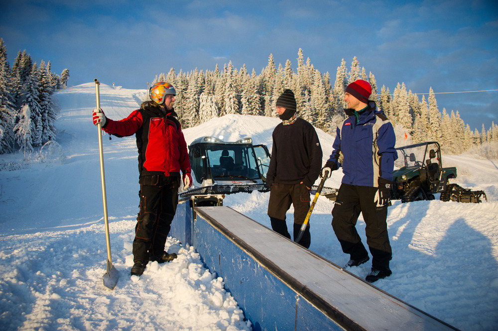 Saturday, December 15th, the terrain park in Trysil opens