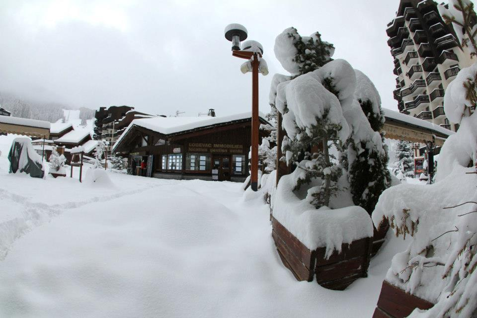 Les Orres village blanketed in powder. Dec. 15, 2012