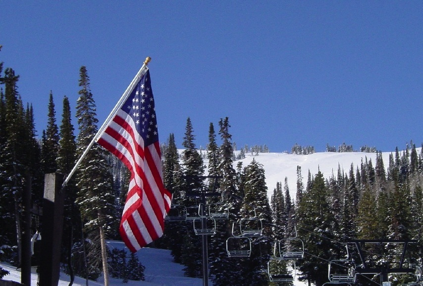 Punch Bowl Flag at Pomerelle. Photo courtesy of Pomerelle Mountain Resort.