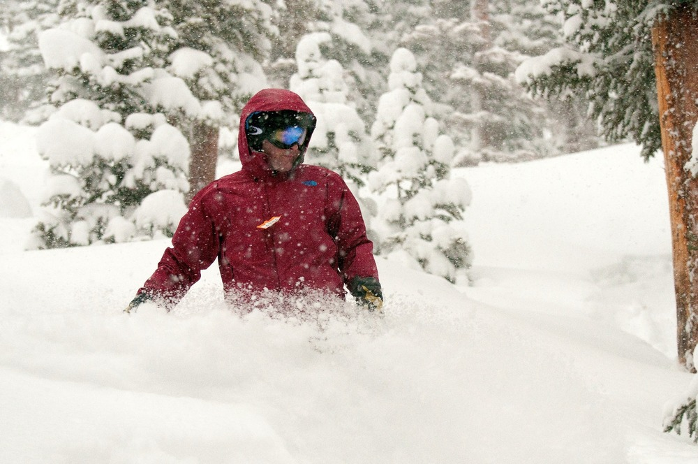 Dan Darabond in DEEP snow at Wolf Creek, Dec. 15, 2012.