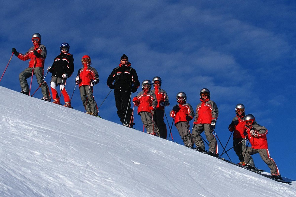 Instructors and students of Skischule-Lech.