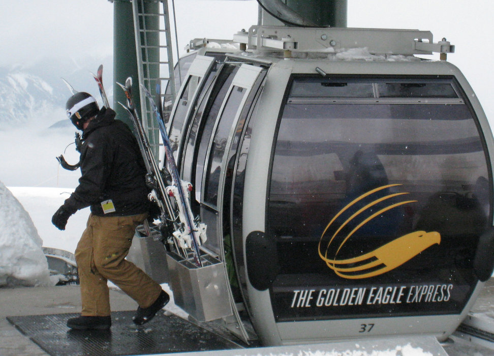 The Golden Eagle Gondola at Kicking Horse. Photo by Becky Lomax.