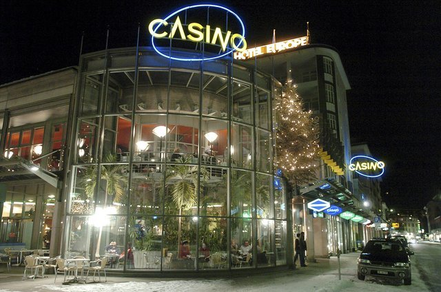 Glass exterior of Casino Davos