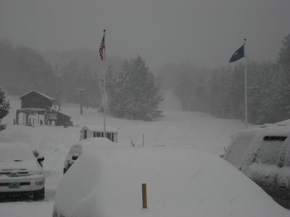 Deep snow at Stowe Mountain Resort, 12/27/2012.