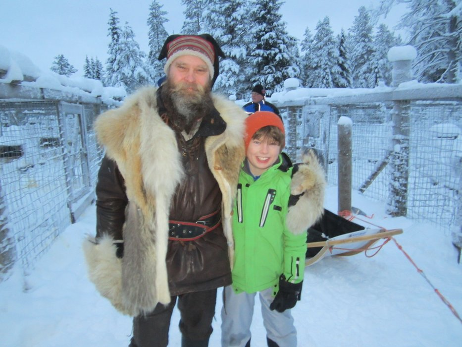 Patrick and Robert in Lapland - ©Patrick Thorne