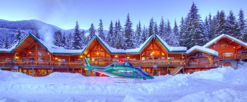 The lodge at Northern Escape Heli-Skiing.