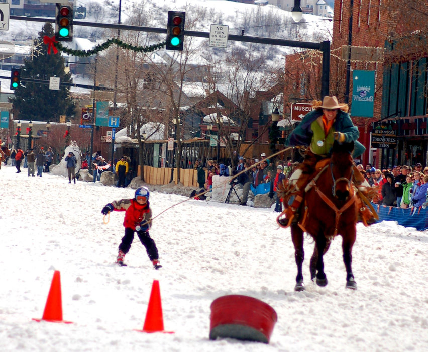 The Winter Carnival in downtown Steamboat Springs has street events down Lincoln Avenue.