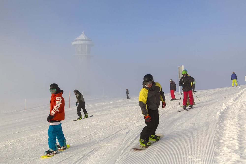 Good snow conditions at Feldberg in January