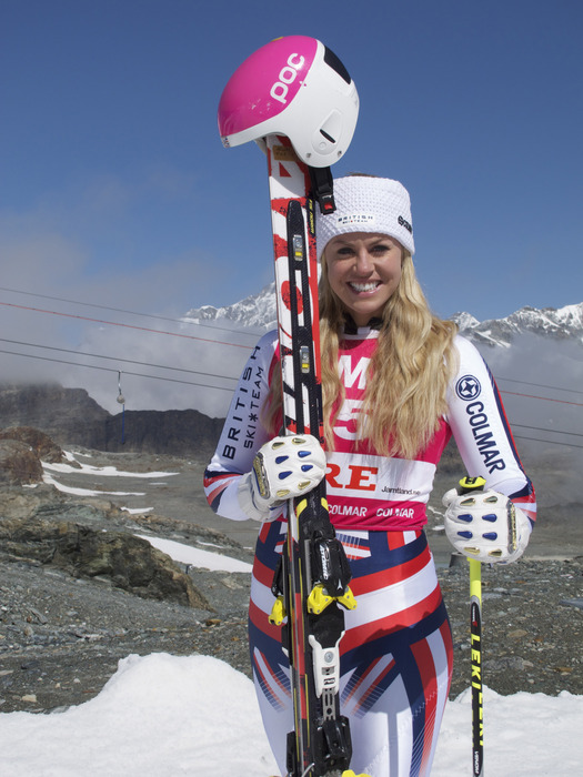 GB Olympic skier, Chemmy Alcott - ©Colmar