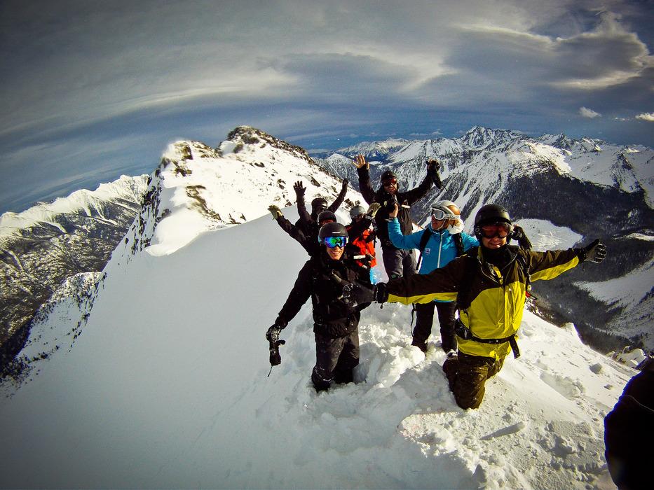 Happy customers at Tyax Lodge Heli-Skiing. - ©Randy Lincks/Andrew Doran