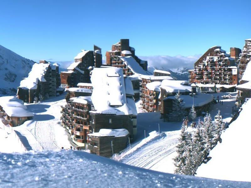 Quirky architecture in the snow-sure resort of Avoriaz, France