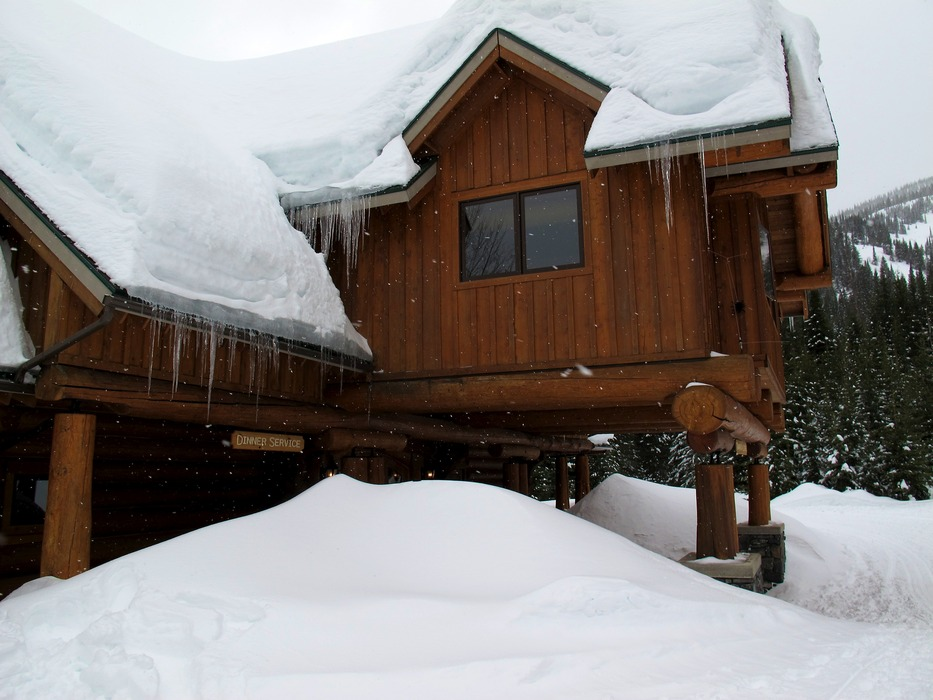 Deep snow for Island Lake Catskiing at the Tamarack Lodge.