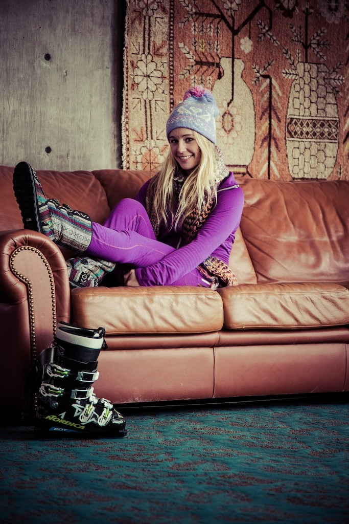 Caroline's more than a pretty face. Mixing her passion with fashion, she's the type of woman who gets excited about finding the perfect hat with a pom pom on top, the pop of color on a zipper pull and the warm feeling of fuzzy winter boots. - ©Liam Doran