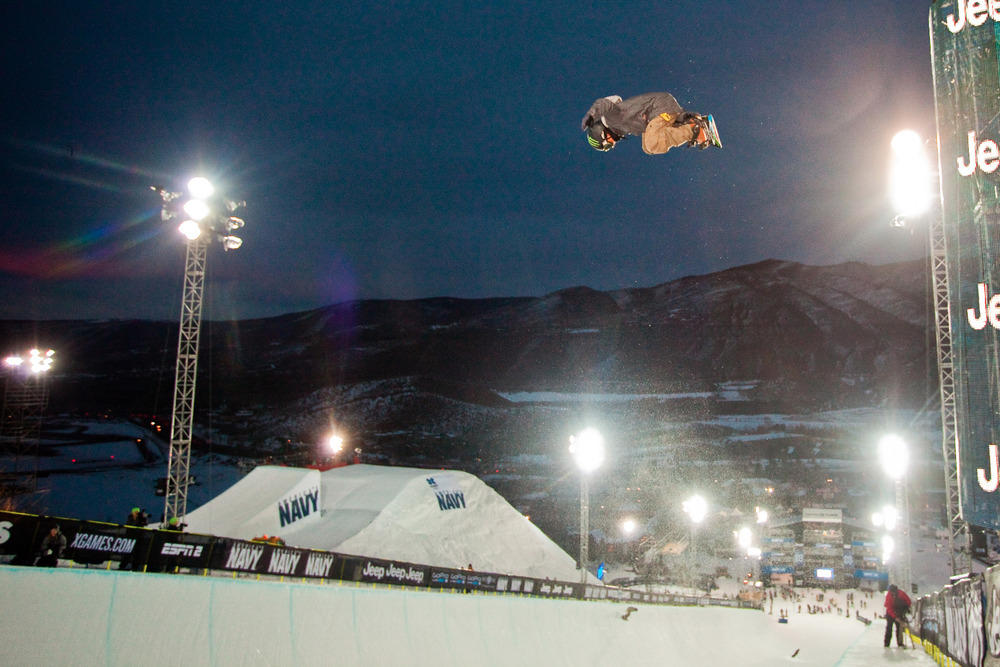 Snowboard Superpipe Practice. Men's finals are on Sunday at 7pm on ESPN - ©Jeremy Swanson