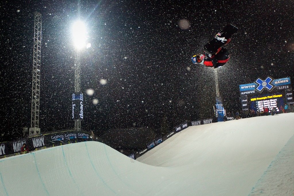 Louie Vito took the eighth and final spot to advance to the finals in Snowboard Superpipe elimination.