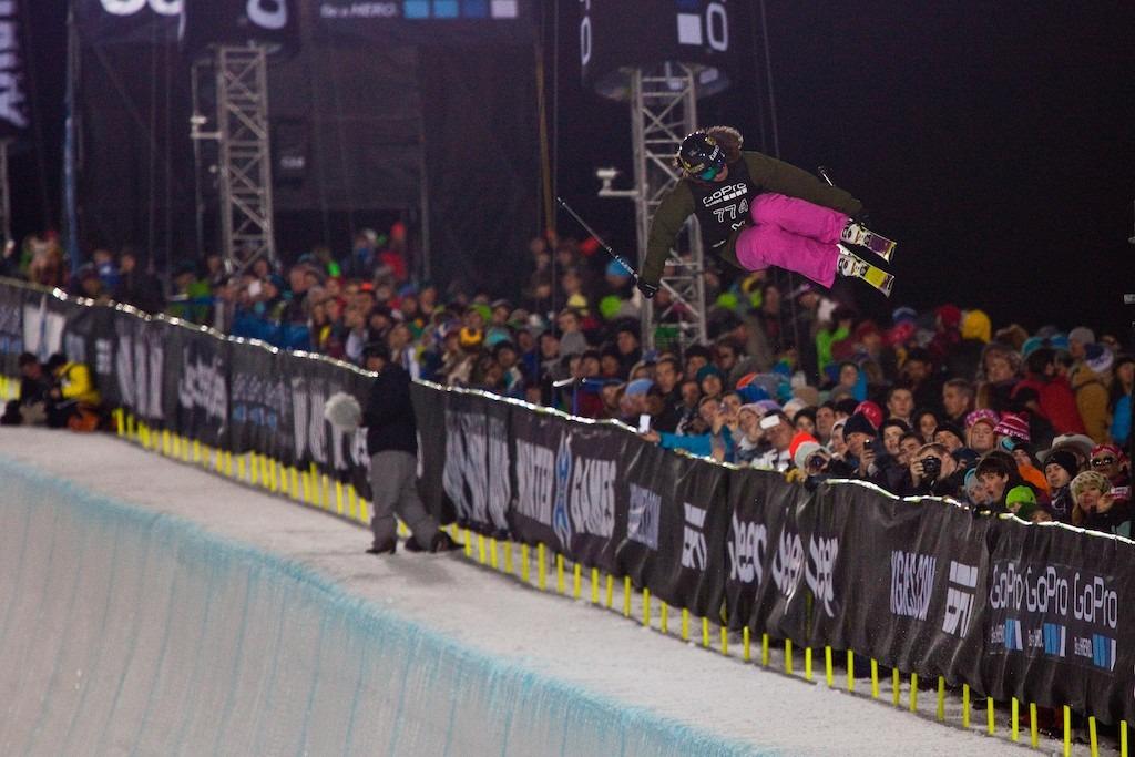Jen Hudak. Women's Ski Superpipe Finals. - ©Jeremy Swanson