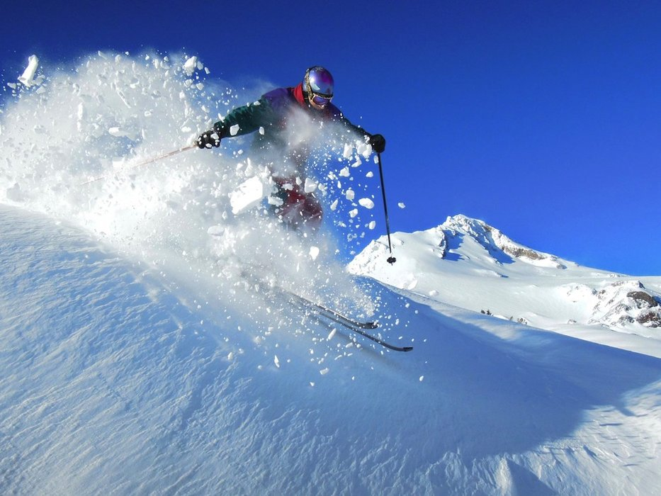 Powder at Mt. Hood Meadows this winter. - ©Jay Carroll/Mt. Hood Meadows