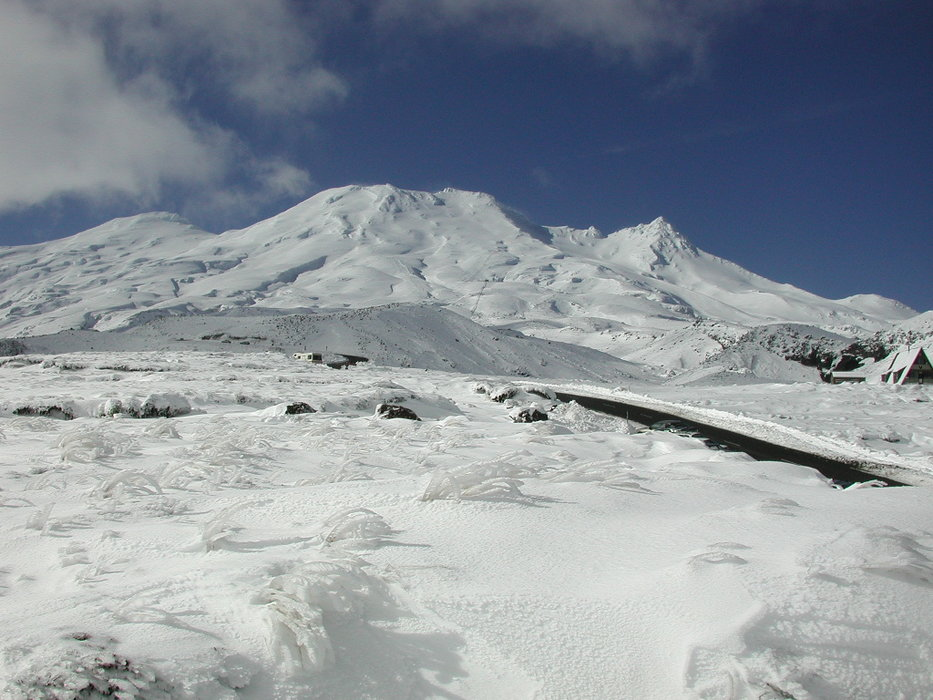 Mt. Ruapehu, home to Whakapapa and Turoa, is on New Zealand's North Island.