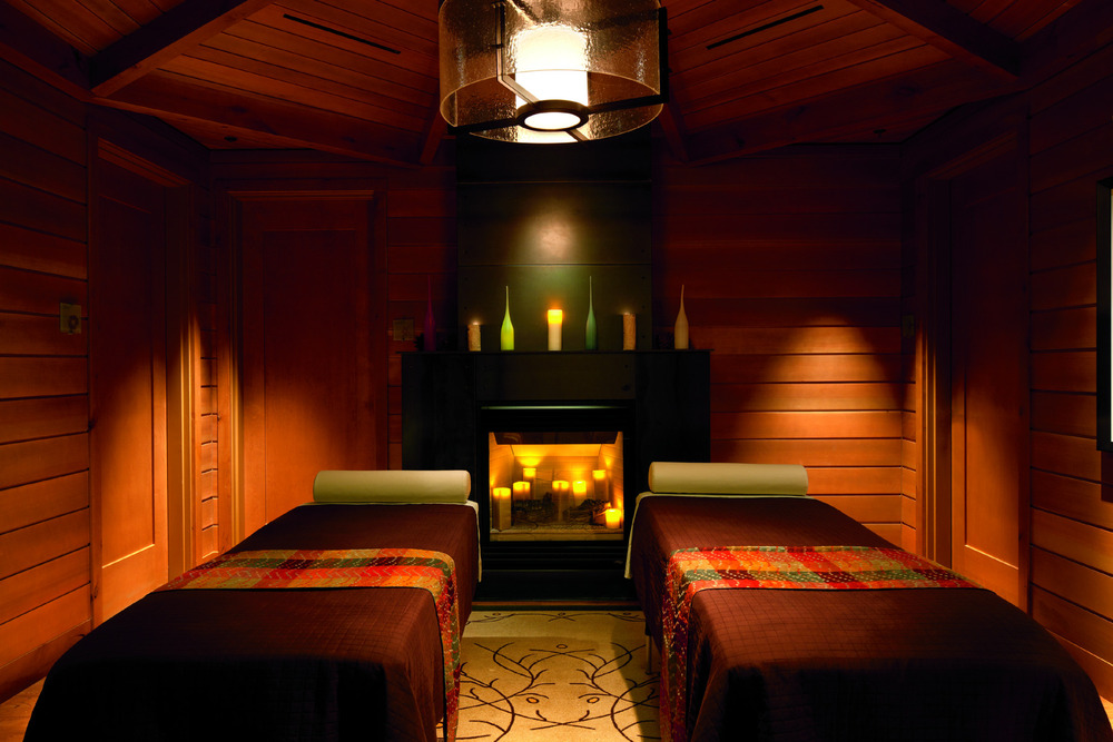 Enjoy a romantic couples massage at the Ritz Carlton in Northstar, California.