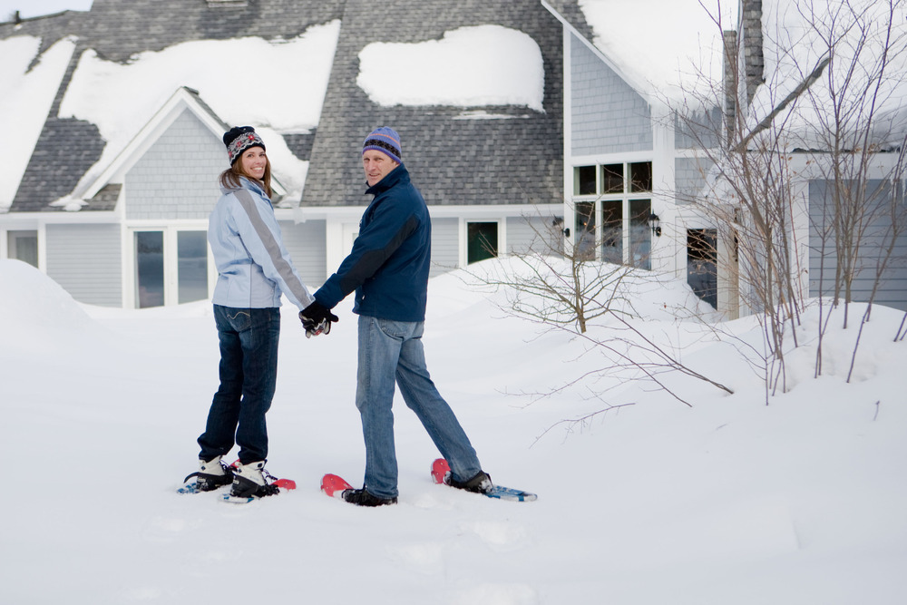 Not into skiing? No problem, take a romantic snowshoe hike before enjoying your room at the Stone Hill Inn.
