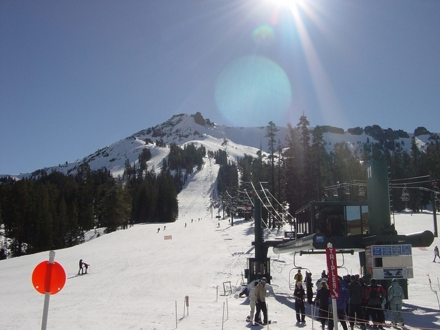 On the slopes of Kirkwood, California.