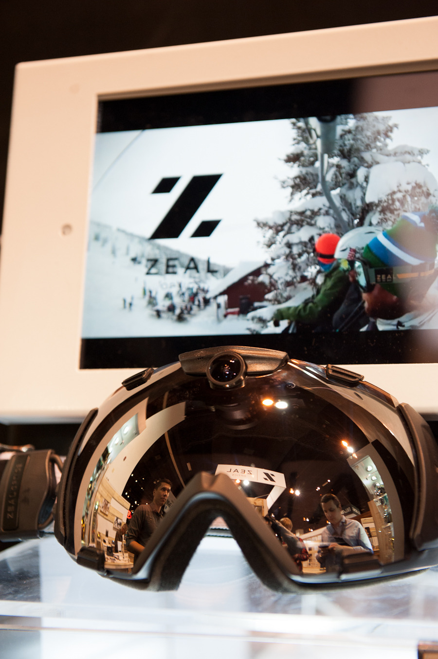 The impressive HD Camera Goggle from Zeal Optics shoots in 1080 HD at 120 FPS and takes 12 megapixel photos. The goggles come with an 8GB memory card and a mirrored lens, with the option to purchase a low light lens separately.  - ©Ashleigh Miller Photography