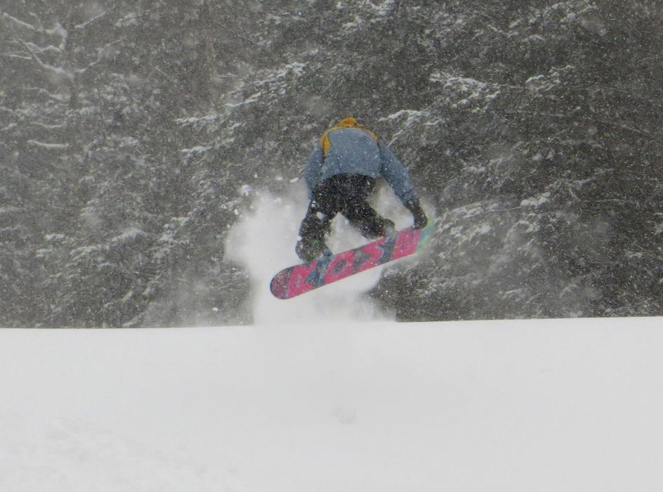 Flying powder at Bretton Woods thanks to Winter Storm Nemo.