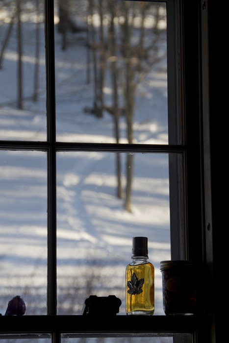A hot lunch with friends, fresh tracks out the window and a little VT maple syrup add to the sweetness of a very snowy and beautiful few days in the mountains.