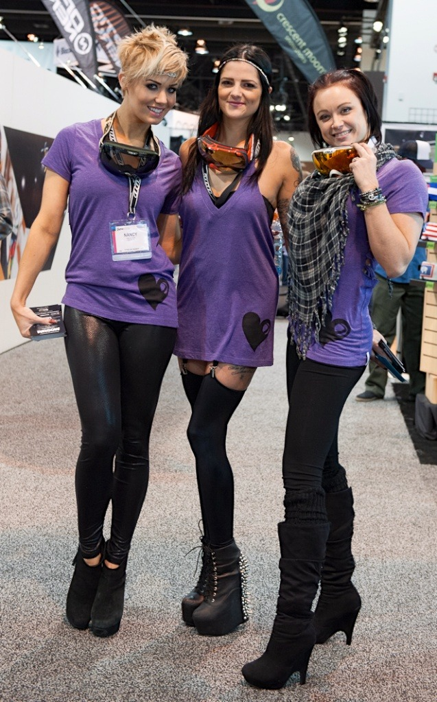 Many of the ladies at SIA 2013 were handing out invitations to the many post-show parties.