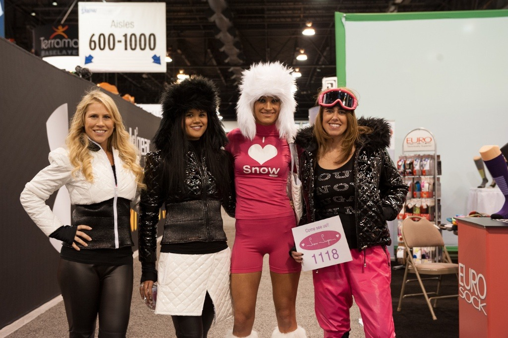 The Snow Sugar girls had some creative SIA 2013 outfits.