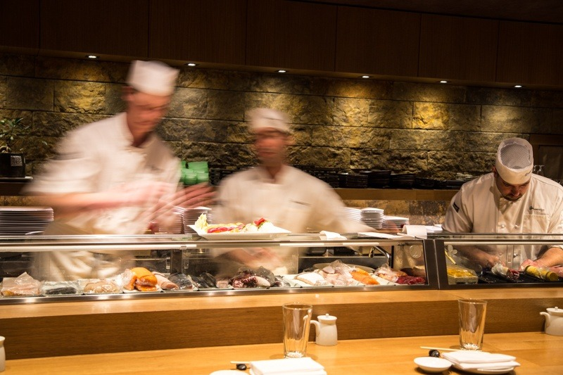 Not into sitting in the main dining room? Try the small sushi bar located just behind the reception desk.  - ©Liam Doran