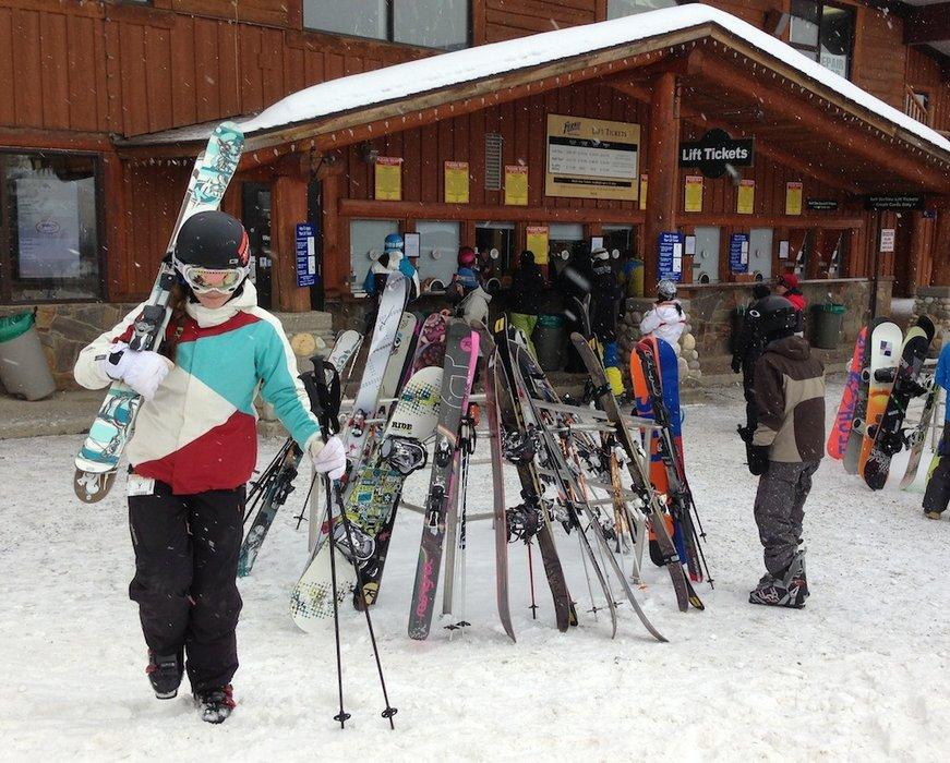 Ready to hit the slopes at Fernie Alpine Resort. Photo by Becky Lomax.