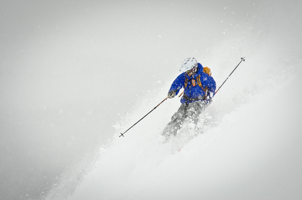 A shot from the ski photography course during the Freeride camp in Abisko, Sweden, by ShiftedExposure