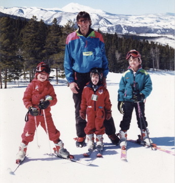 It all began skiing with her father and brothers at Buttermilk Mountain for Olenick.
