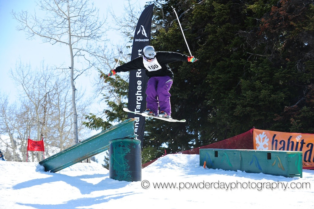 Spring Breakaway rail jam at Grand Targhee Resort. Photo by Powder Day Photography,courtesy of Grand Targhee Resort.