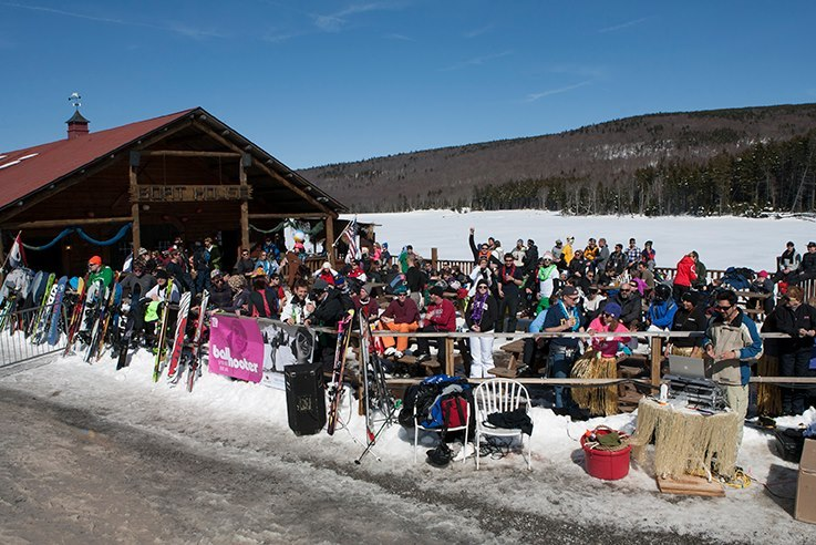 Spring means spending nearly as much time sliding on snow as partying in the sun. Photo Courtesy of Snowshoe Mountain Resort.