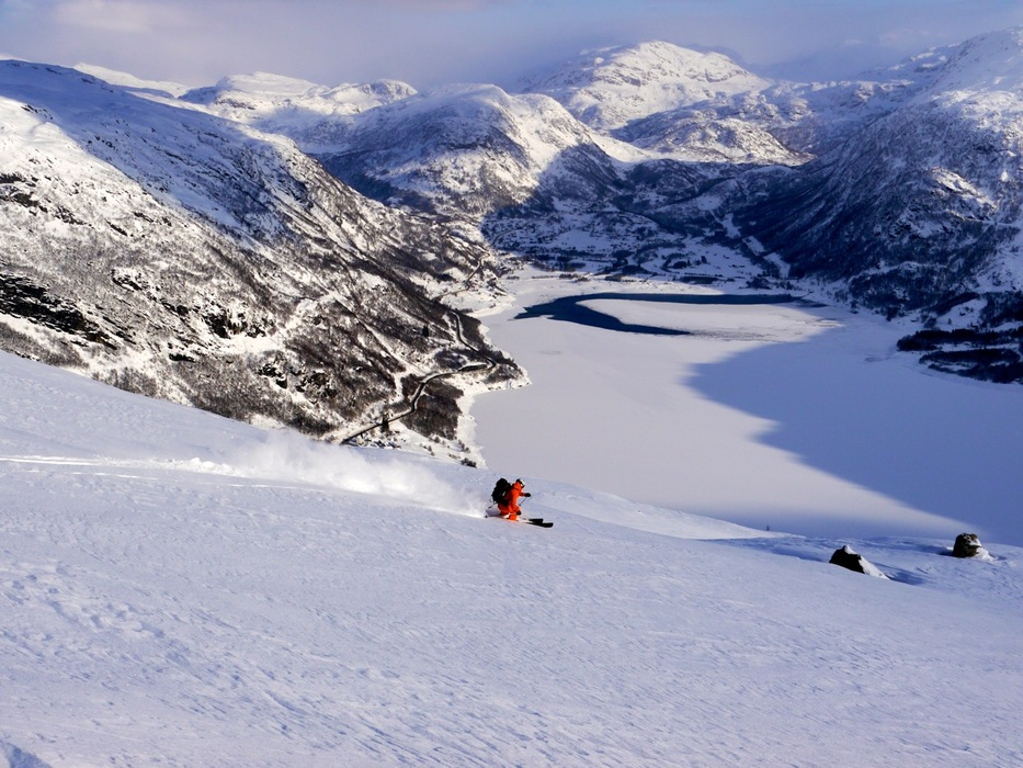 Local guide Nils Kristian Berge always finds the best snow in Røldal.
